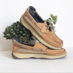 Sperry Lanyard Leather Boat Shoes Size 6